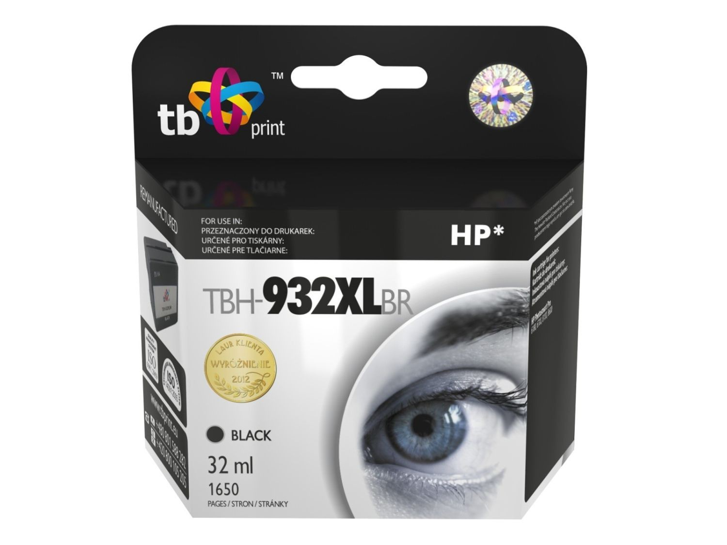 TB Print Tusz do HP PS Pro 8100 TBH-932XLBR BK ref.
