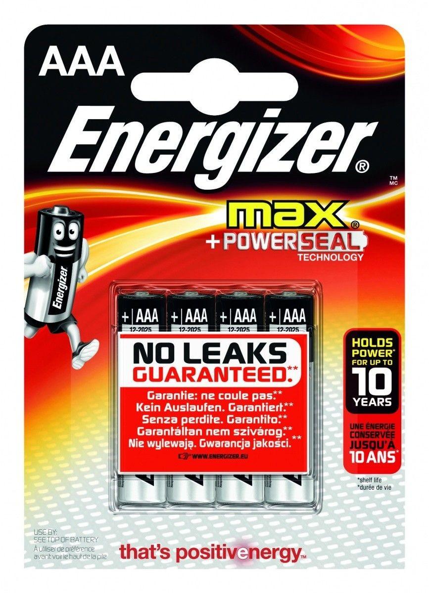 Energizer BATERIE MAX + PowerSeal Technology AAA E92/ 4SZT