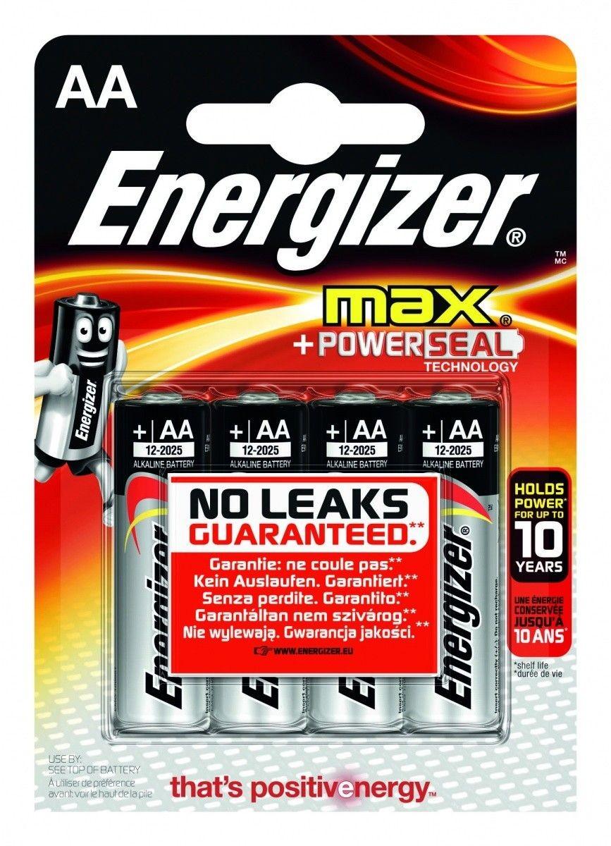 Energizer Bateria Max Alkaliczna LR6 AA E91 4 szt. blister