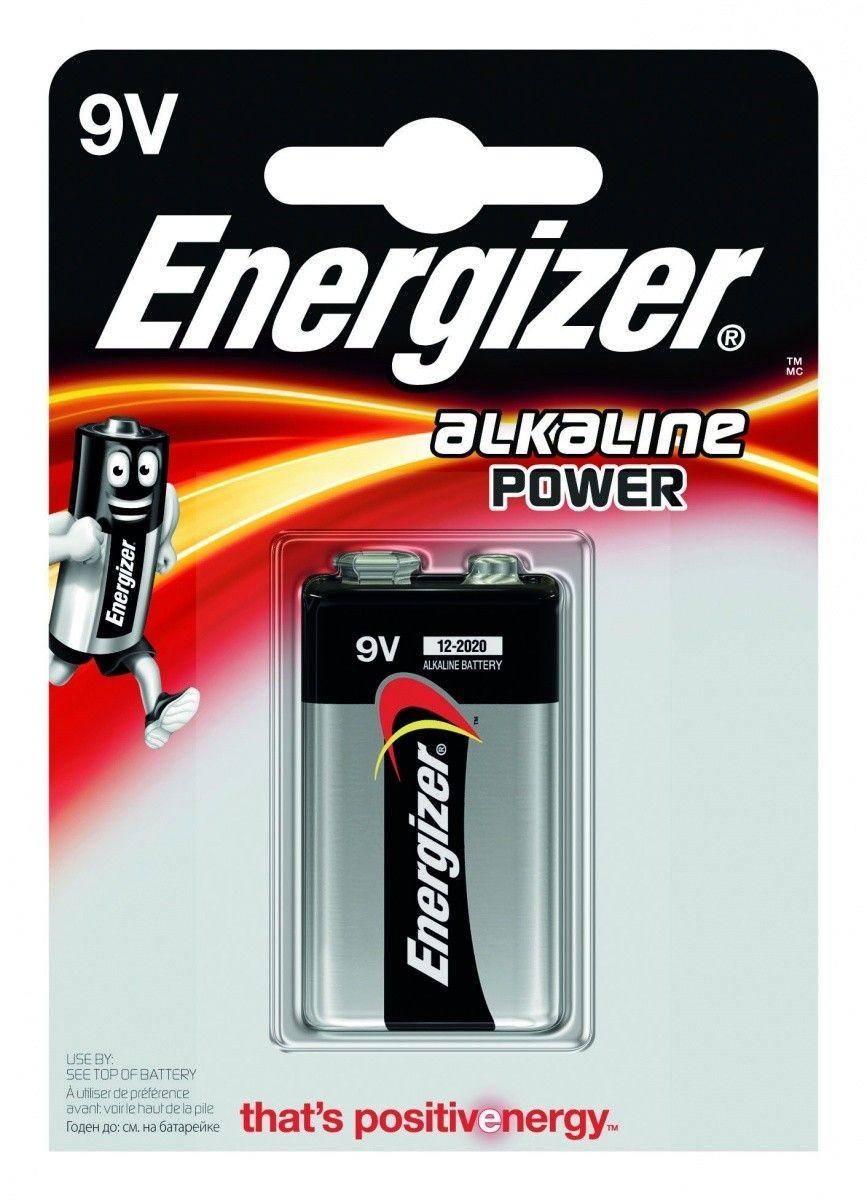 Energizer Bateria Alkaline Power 9V-9B-6lR61