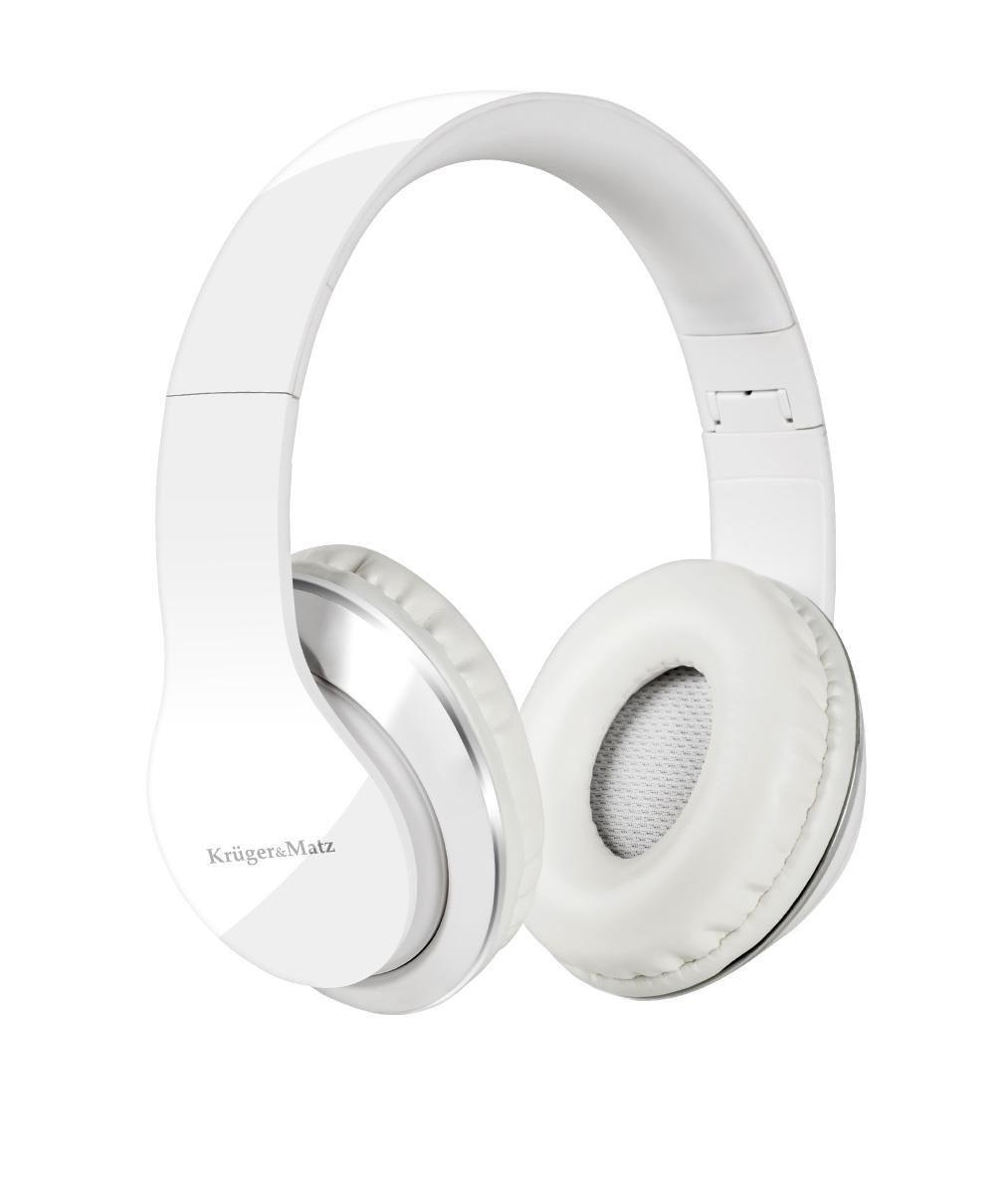 Kruger & Matz Słuchawki przewodowe nauszne Street KM0631 Białe