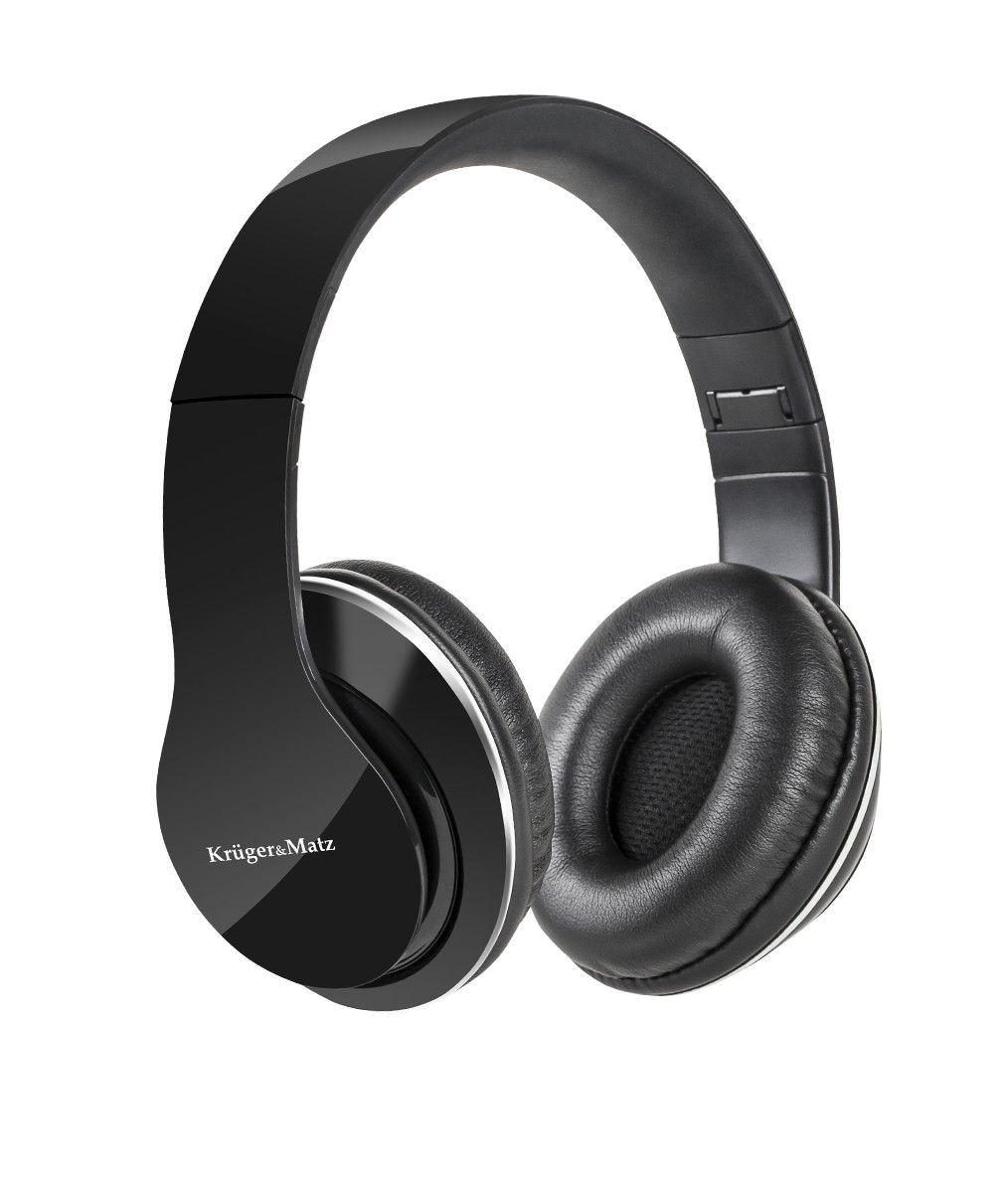 Kruger & Matz Słuchawki przewodowe nauszne Street czarne
