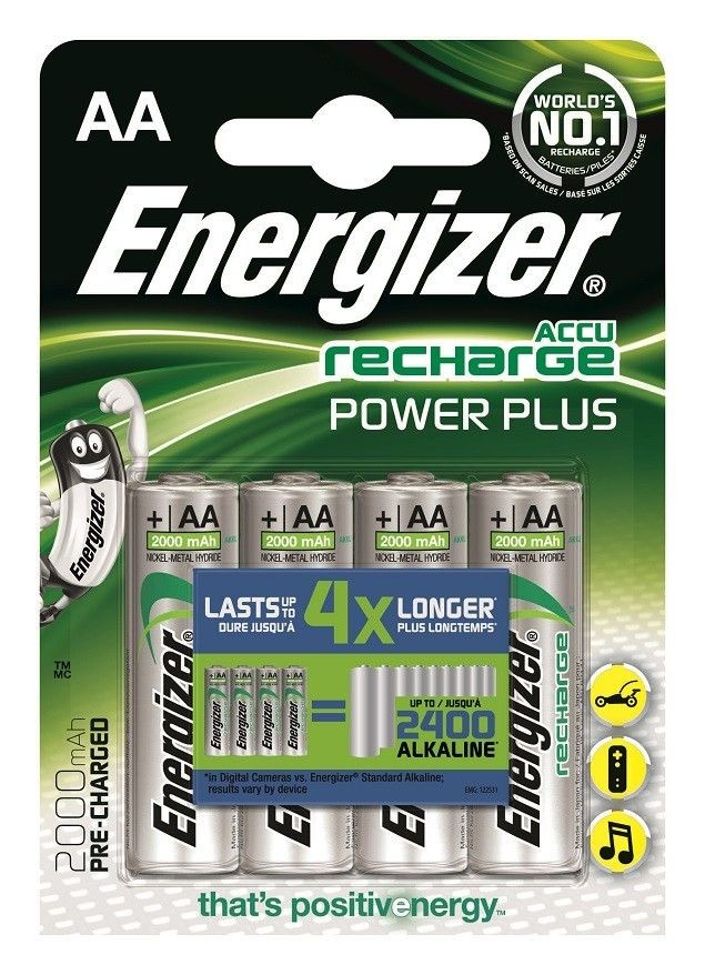 Energizer Akumulator Power Plus AA HR6 /2000mAh /4 szt.