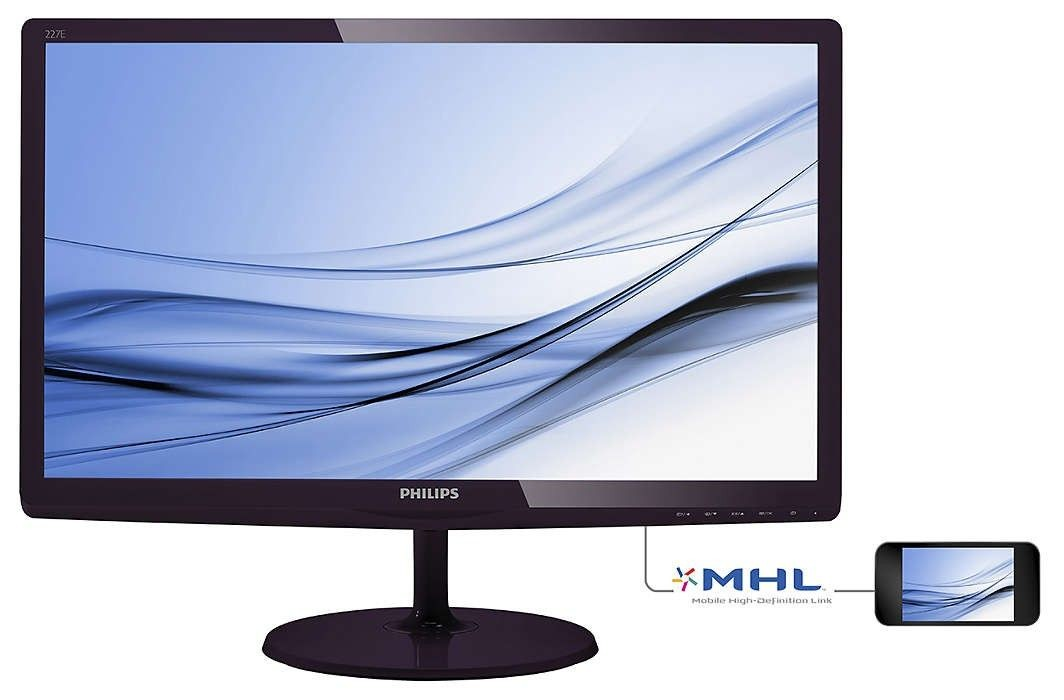 Philips Monitor 227E6EDSD/00 21.5'', panel IPS-ADS, D-Sub/DVI-D/HDMI