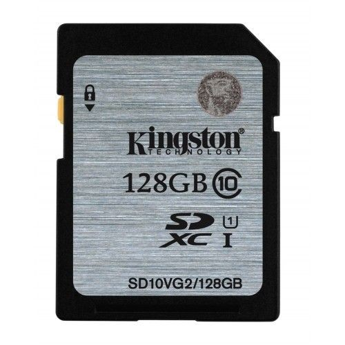Kingston karta pamięci 128GB SDXC Class10 UHS-I 45MB/s read