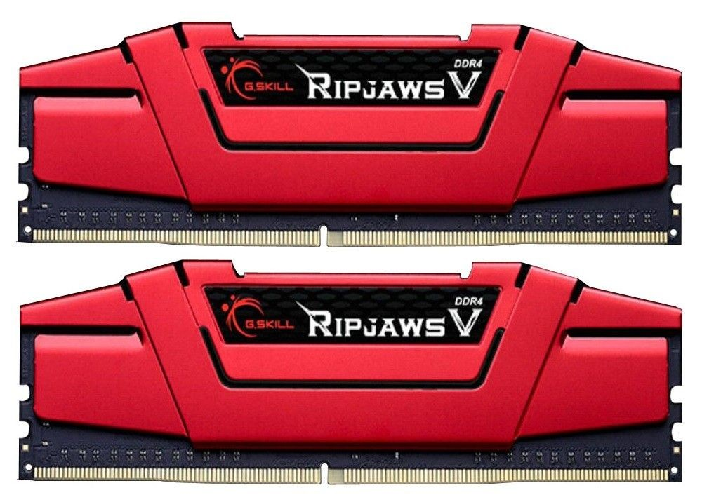 GSkill DDR4 16GB (2x8GB) RipjawsV 3000MHz CL15-15-15 XMP2 Red