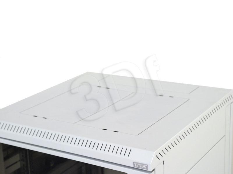 Triton Szafa rack 19 stojąca RMA-37-A81-CAX-A1 (37U 800x1000mm trzypunktowe zawiasy przeszklone drzwi kolor jasnoszary RAL7035)