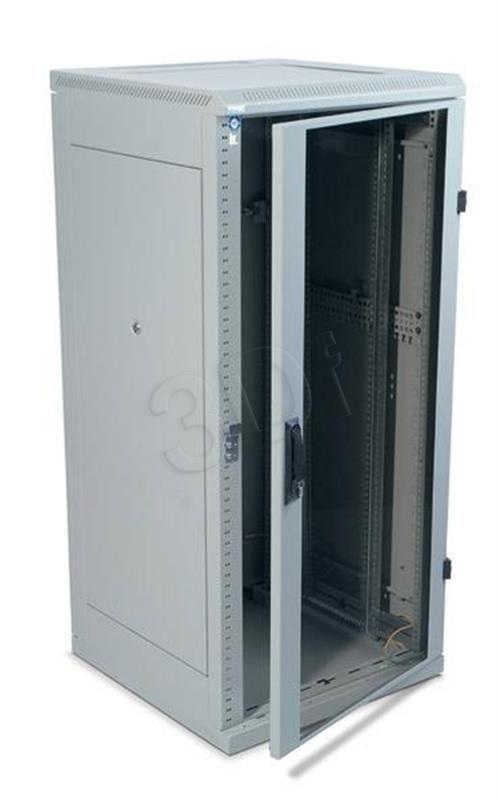 Triton Szafa rack 19 stojąca RMA-22-A69-CAX-A1 (22U 600x900mm trzypunktowe zawiasy przeszklone drzwi kolor jasnoszary RAL7035)