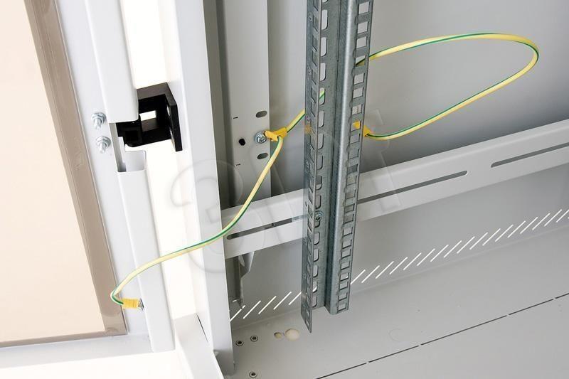 Triton rack 19 Szafa stojąca RMA-18-A61-CAX-A1 (18U 600x1000mm przeszklone drzwi kolor jasnoszary RAL7035)