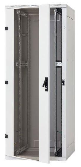 Triton  Szafa rack 19 stojąca demontowalna RZA-42-A61-CAX-A1 (42U 600x1000mm przeszklone drzwi kolor jasnoszary RAL7035)