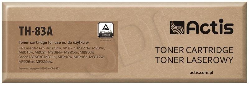 Actis Toner Actis TH-83A (do drukarki Canon Hewlett Packard zamiennik HP 83A/Canon CRG-737 CF283A supreme 1500str. czarny)