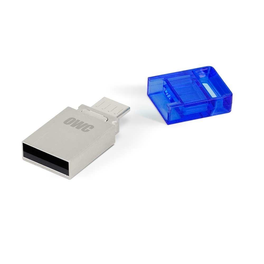 OWC Dual 32GB PenDrive USB + microUSB OTG aluminium