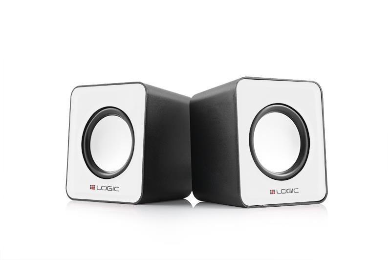 ModeCom Głośniki 2.0 LS-09 (białe) [ stereo ]