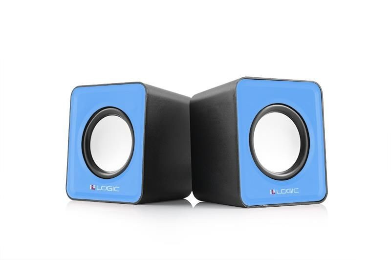 ModeCom Głośniki 2.0 LS-09 (niebieskie) [ stereo ]