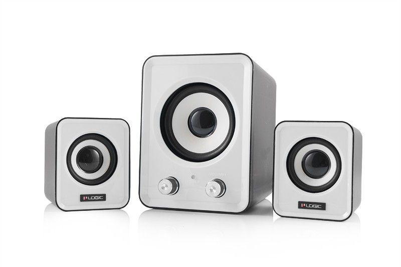 ModeCom Głośniki 2.1 LS-20 (białe) [ stereo ]