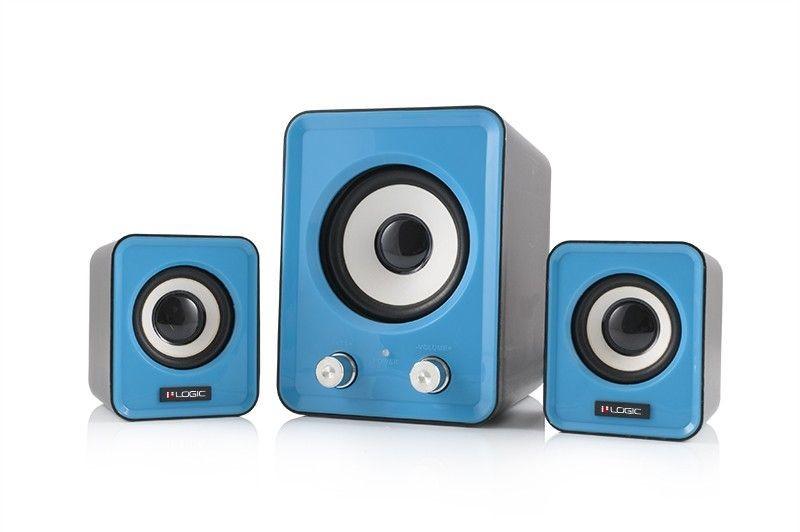 ModeCom Głośniki 2.1 LS-20 (niebieskie) [ stereo ]