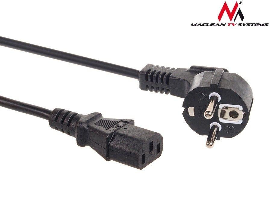 Maclean Kabel zasilający 3 pin 1,5M wtyk EU MCTV-691
