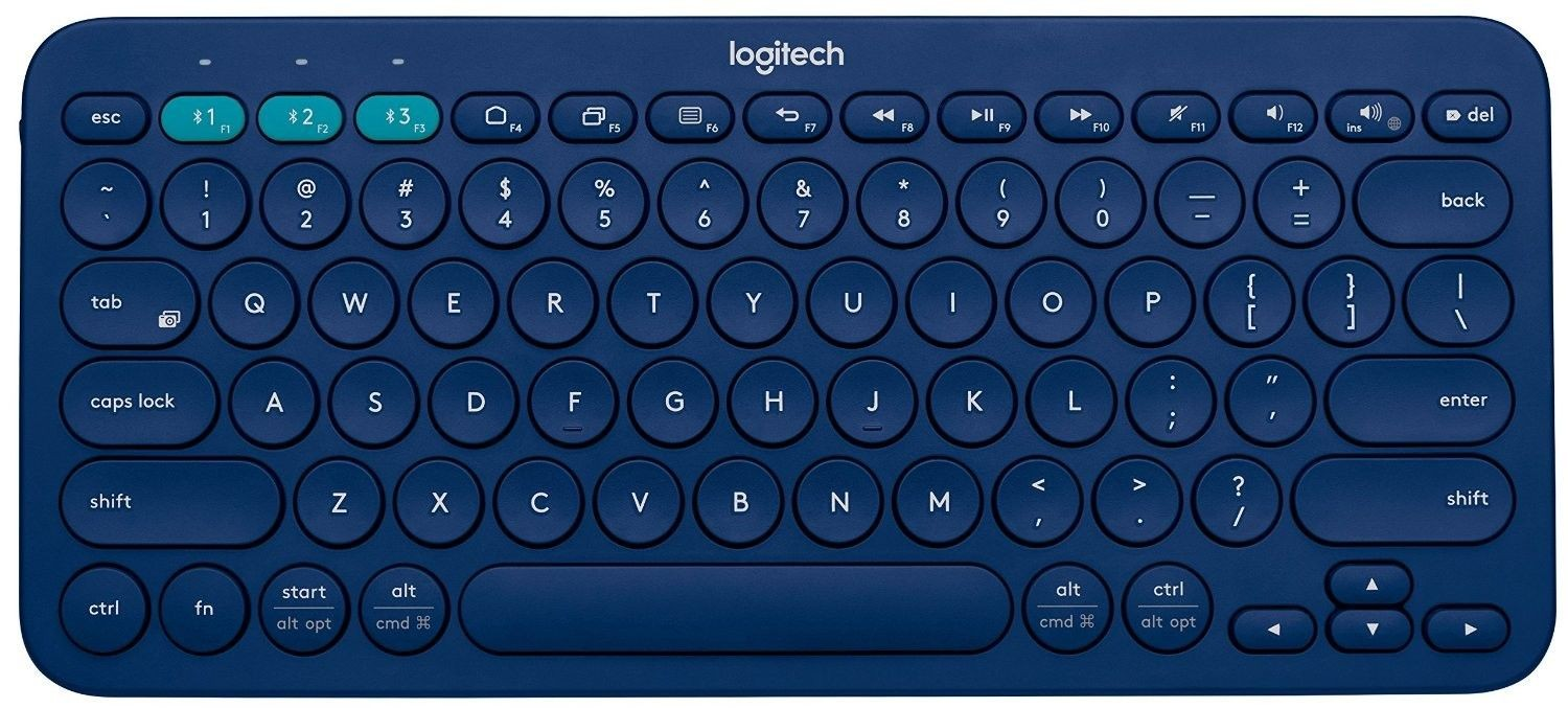 Logitech Multi-Device Bluetooth Keyboard K380 - niebieska - (US INTL)