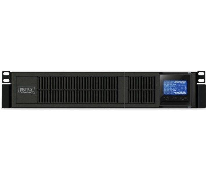 Digitus UPS - zasilacz awaryjny On-Line 1500VA/1350W, 8x IEC C13, LCD, rack