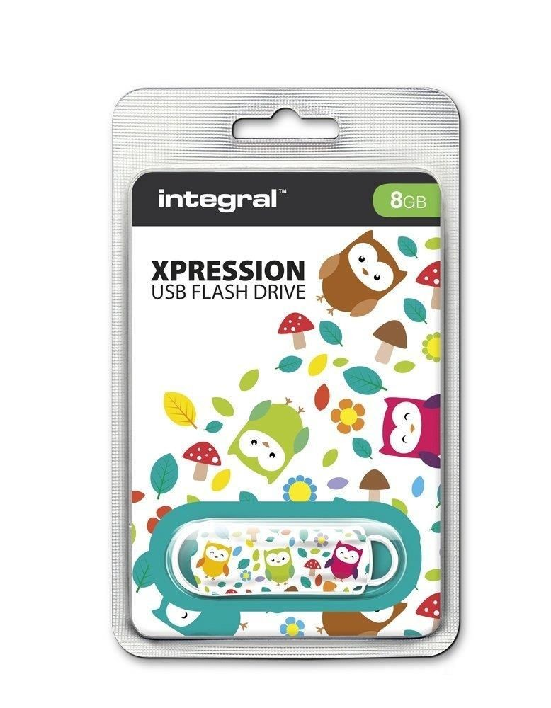Integral pamięć USB Xpression Owls 8GB USB 2.0