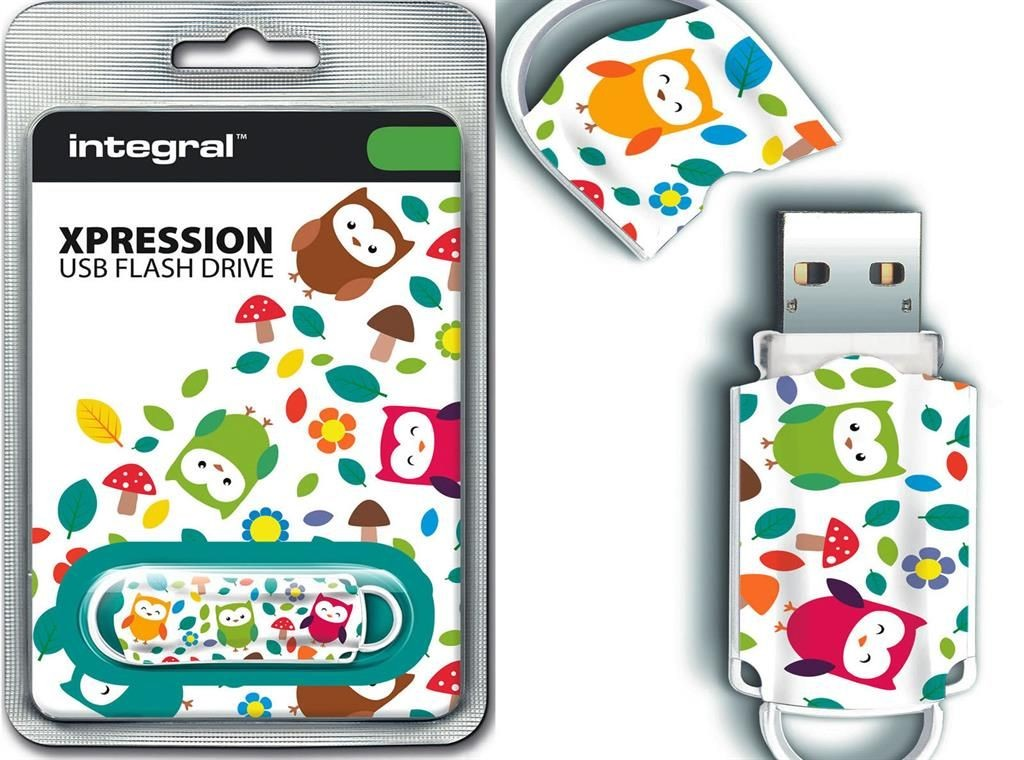 Integral pamięć USB Xpression 16GB USB 2.0 - Owls