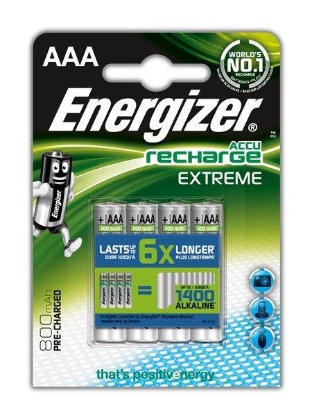 Energizer Akumulatory Extreme AAA / 4 sztuki