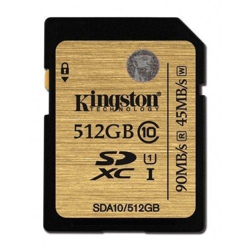 Kingston karta pamięci 512GB SDXC Class 10 UHS-I Ultimate (90/45 MB/s)