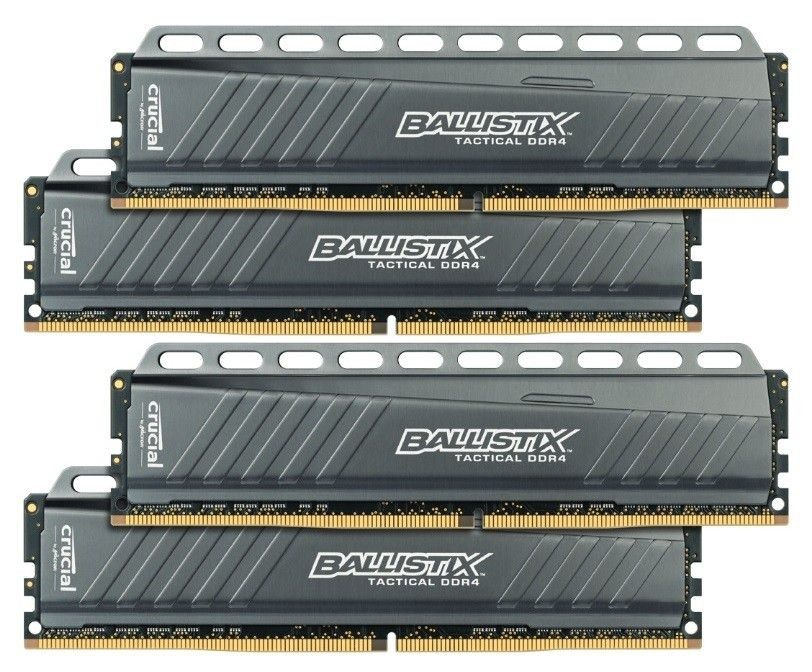 Crucial Ballistix Tactical LT DDR4 32GB Kit (8GBx4 2666 MT/s (PC4-21300) CL16