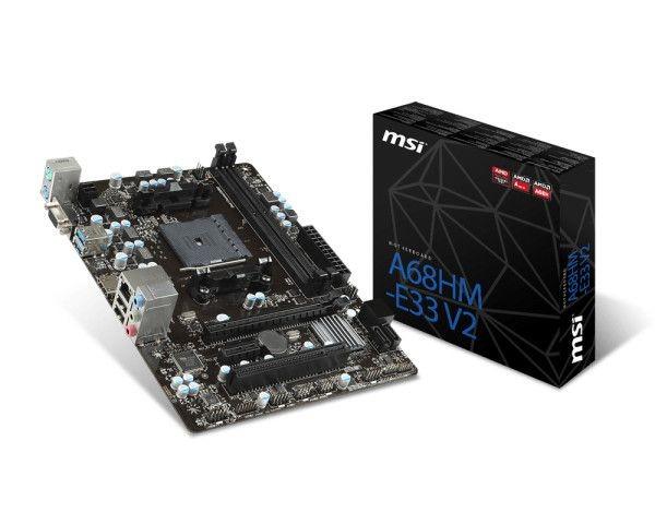 MSI mATX A68HM-E33 V2, A68,FM2+,2DDR3,1PCI-Ex16,1PCI-Ex1,1PCI,4SATA3,2USB3,Gb LAN,HDMI