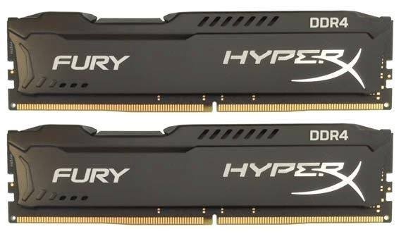 Kingston HyperX FURY Black Series 8GB(Kit of 2) 2666MHz DDR4 Non-ECC CL15 DIMM