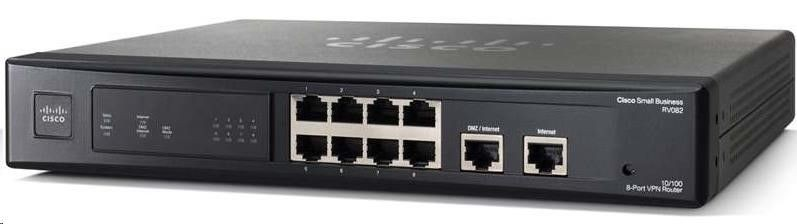 Linksys Router xDSL Cisco RV082-EU 2xWAN 8xLAN VPN Firewall