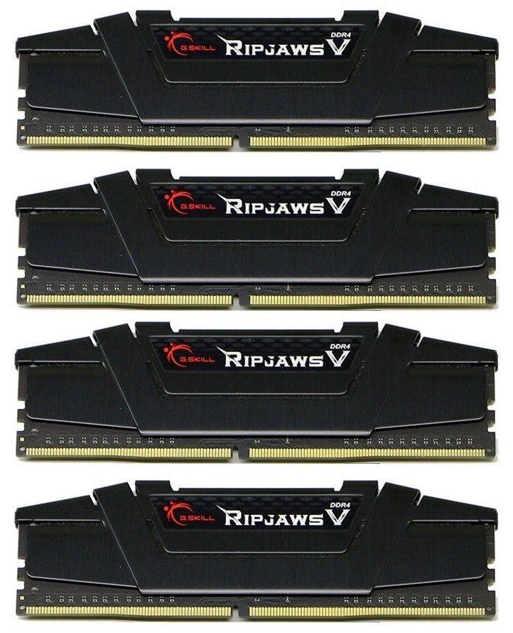 GSkill DDR4 32GB (4x8GB) RipjawsV 3200MHz CL16-16-16 XMP2 Black