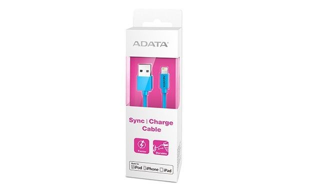 A-Data Kabel Sync and Charge Lightning, USB, MFi (iPhone, iPad, iPod), Niebieski