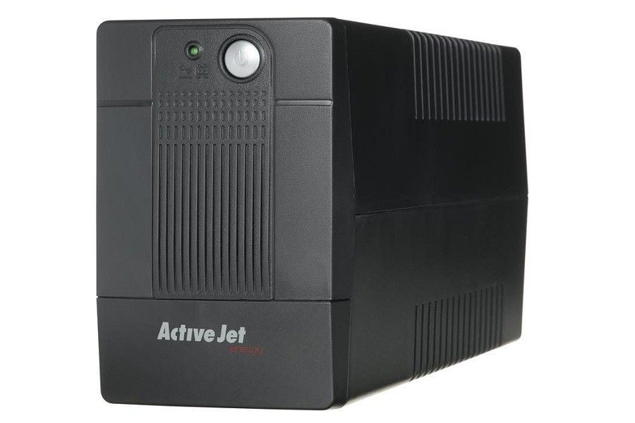 ActiveJet UPS ACTIVEJET AJE-500VA LED/USB/4xIEC/7Ah BLACK