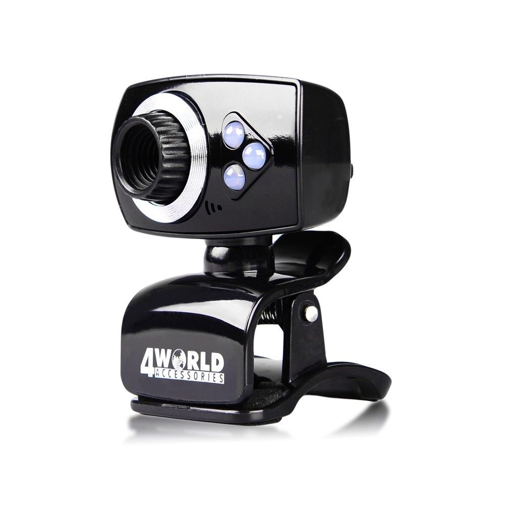4World Kamera internetowa 2 Mpx USB 2.0 z podświetleniem LED + mikrofon