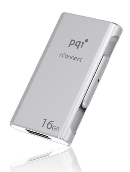 PQI Pendrive OTG USB-lightning 64GB, iConnect srebrny