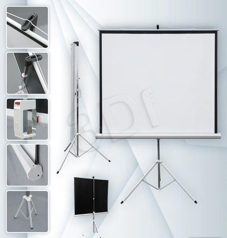 2x3 ekran projekcyjny ECO (na stojaku rozwijany ręcznie 147x147cm)