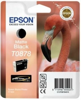 Epson tusz T0878 black Retail Pack BLISTER (Stylus Photo R1900)