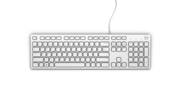 Dell Keyboard : US-Euro (Qwerty) KB216 Quietkey USB, White