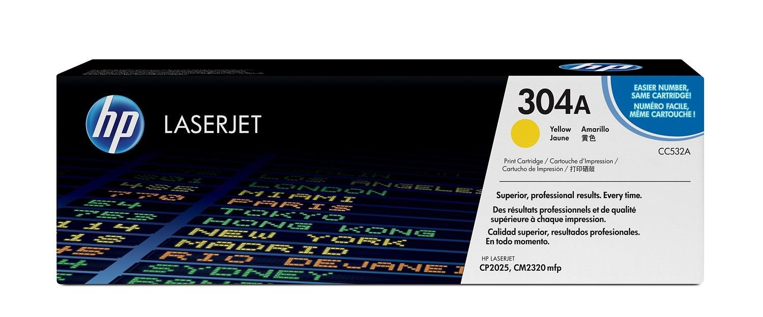 HP Toner HP 304A yellow | 2800str | Color LaserJet CP2025/CM2320