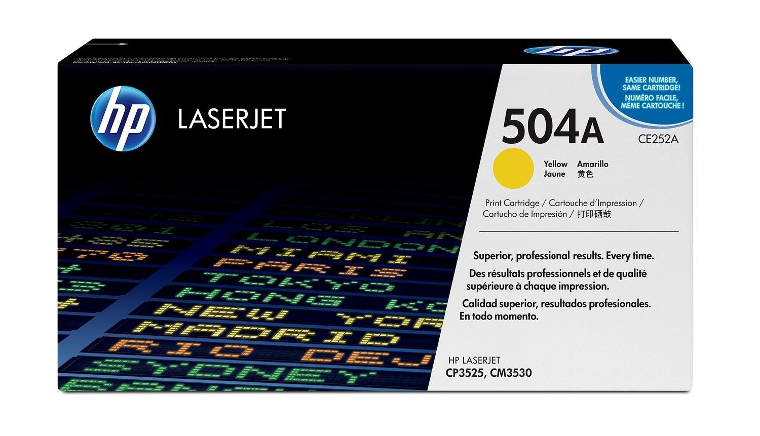 HP Toner HP 504A yellow | 7000str | ColorSphere | Color LaserJet CP3520