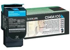 Lexmark toner cyan (zwrotny, 1000str, C540/C543/C544/C546/X543/X544/X546/X548)
