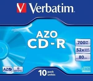 Verbatim CD-R 700MB 52x Crystal (jewel case, 10szt)