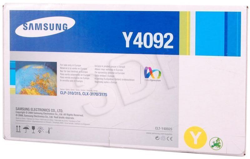 Samsung Toner yellow CLT-Y4092S | 1 000str | CLP-310/CLP-315/CLX-3170/CLX-3175