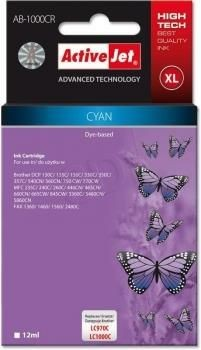 ActiveJet Tusz ActiveJet AB-1000CR | Cyan | 12 ml | Brother LC1000C, LC970C
