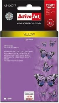 ActiveJet Tusz ActiveJet AB-1000YR | Yellow | 12 ml | Brother LC1000Y, LC970Y