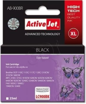 ActiveJet Tusz ActiveJet AB-900BR | Czarny | 25 ml | Brother LC900BK