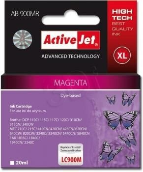 ActiveJet AB-900MR (ABR-900M) tusz magenta do drukarki Brother ref. (zamiennik LC900M)