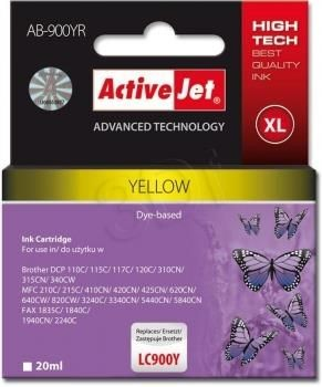 ActiveJet AB-900YR (ABR-900Y) tusz yellow do drukarki Brother ref. (zamiennik LC900Y)