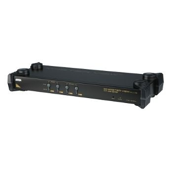 Aten CS9134 KVM Switch 4 ports, OSD, PS/2 Keyboard / Mouse, Audio, 1U Rack 19''